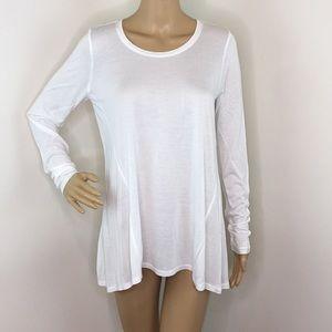 Cabi White Long Sleeve Blouse